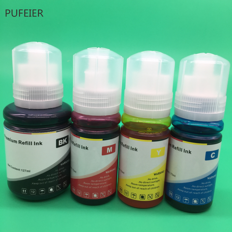 4 Bottles 103 104 105 512 T103 T104 T105 T512 EcoTank Refill Dye Based Ink Kits For Epson L3150 L3111 L3151 L3110 ET7750 ET7700