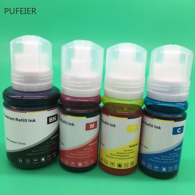 4 Bottles 103 104 105 512 T103 T104 T105 T512 EcoTank Refill Dye Based Ink Kits For Epson L3150 L3111 L3151 L3110 ET7750 ET7700