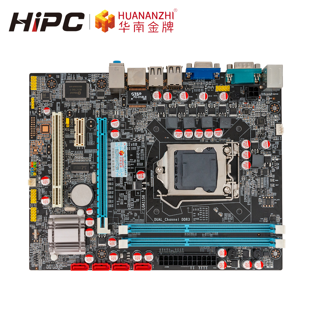 HUANAN ZHI H55 Motherboard For Intel LGA 1156 I3 I5 I7 DDR3 16GB SATA2.0 PCI-E VGA COM M-ATX Mainboard