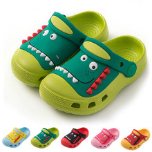 Crocs Children Shoes Tip Binding Cartoon Slippers Cute Dinosaur GARDEN SHOES Ant