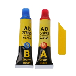 New 2PCS Epoxy Resin AB Glue All Purpose Adhesive Super Glue For Glass Metal Ceramic Hardware