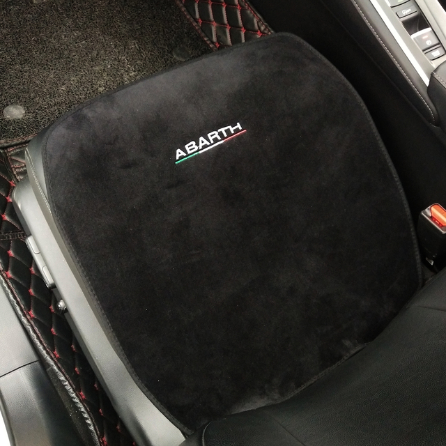 Car Soft Plush Seat Cushion Warm Winter Pad Mat Auto Interior Accessories for Fiat 500 500L Abarth 595 competizione car styling 2