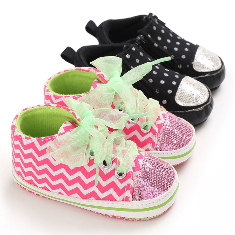 Spring And Autumn 0-1 Years Old Baby Casual Shoes Girls  Soft Bottom Non-slip Toddler Shoes  Infant Girls Shoes
