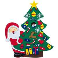 DIY Felt Christmas Tree With 38PCS Ornament Kid Toy New Year Xmas Gifts Artificial Tree Wall Christmas Decoration For Home