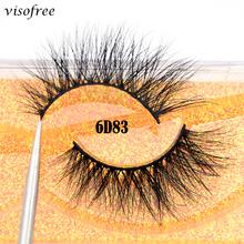 Visofree 6D rzęsy naturalne sztuczne rzęsy sztuczne rzęsy długi makijaż 3D rzęsy z norek rzęsy sztuczne rzęsy rzęsy z norek dla urody tanie tanio Pasek rzęsy Norek włosy Powyżej 1 5 cm Plastikowe bawełna łodyga visofree 6D83 Pełna strip lashes Grube Hand made