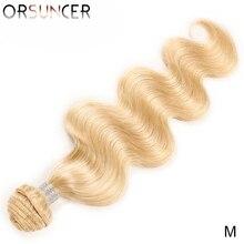 "ORSUNCER Body Wave 613 Blonde bundle Medium Ratio 8"" 26""Peruvian Non Remy Human Hair Weave 613 Color Honey Hair 1/ 3/ 4 PC"