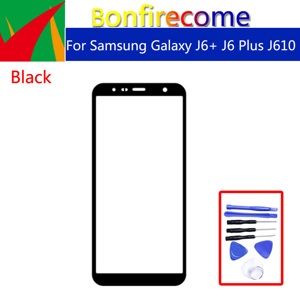 J6+ For Samsung Galaxy J6+ J6 Plus J610 J610F J610G J610DS J610FN Touch Screen Outer Glass LCD Front TouchScreen Lens 6.0