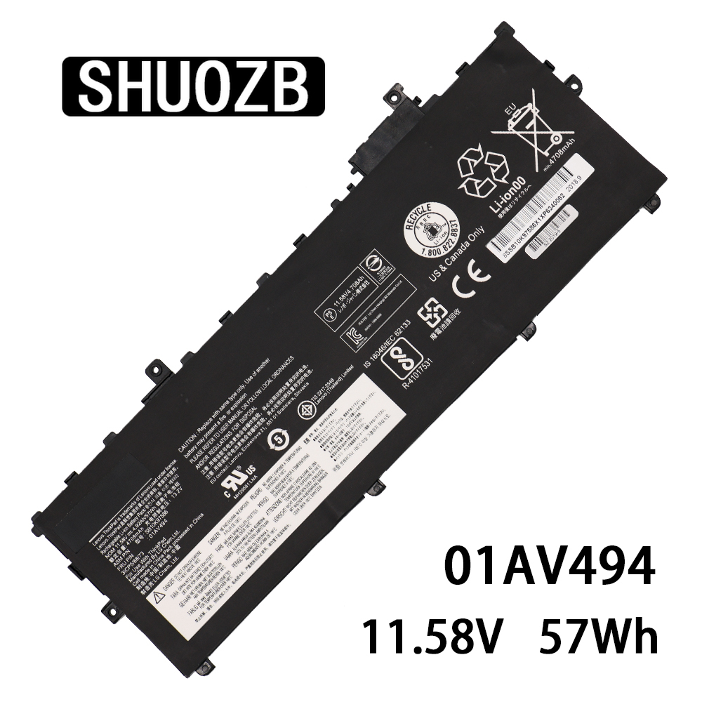 SHUOZB NEW 01AV494 Laptop Battery 01AV430 SB10K97586 For Lenovo ThinkPad X1 Carbon 5th Gen 2017 6th 2018 Series 01AV494 01AV429