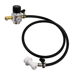 Linha de Montagem para A Tomada de Cerveja Refrigerante carbonatação de Gás de Água, 0-90 Calibre PSI CO2 Tubo Regulador & PVC & Bola Bloqueio de Cerveja Linha de Montagem
