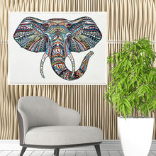 Diy 5d алмазная картина частичный Слон рисунок стразами вышивка