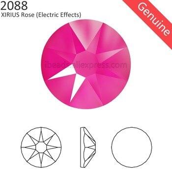 (24 шт.) Оригинальные кристаллы от Swarovski 2088 XIRIUS, Электрический эффект, плоская задняя часть, стразы, без горячей фиксации, стразы для дизайна ногтей, ювелирные изделия