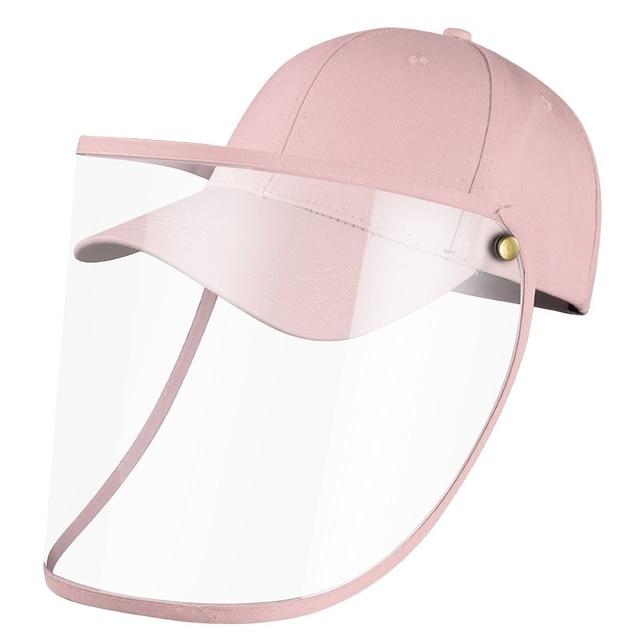 Face Shield Protective Baseball Cap for Anti-Fog Saliva Sneeze Adjustable Shield Protection