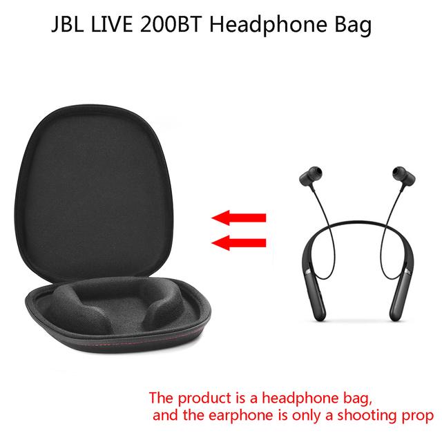 Shookproof Wireless Neckband Case Wireless Bluetooth Neckband Earphone Bag Zipper Protective Hard Case Box For JBL LIVE 200BT