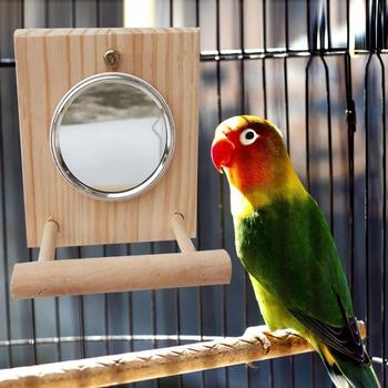 10 * 12 Cm Mirror Stand Pet Funny Parrot Bird Toy Mirror Toy Accessories  for Parrot Bird  Pet Parrot  Cage Pet Supplies