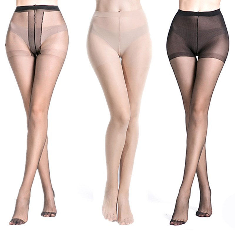 Fashion Seamless Women Pantyhose Black Slim Sexy Stockings Tear Resistant High Waist Elastic Tights Thin Transparent Pantyhose