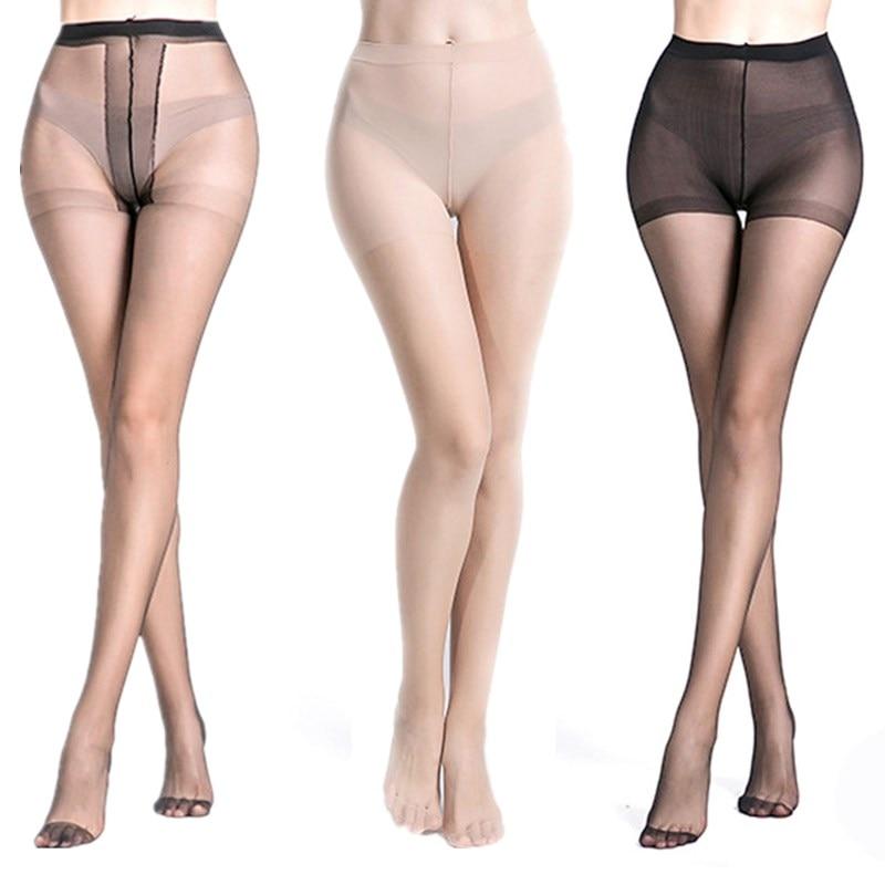 Fashion Seamless Women Pantyhose Black Slim Sexy Stockings Tear Resistant High Waist Elastic Tights Thin Transparent Pantyhose