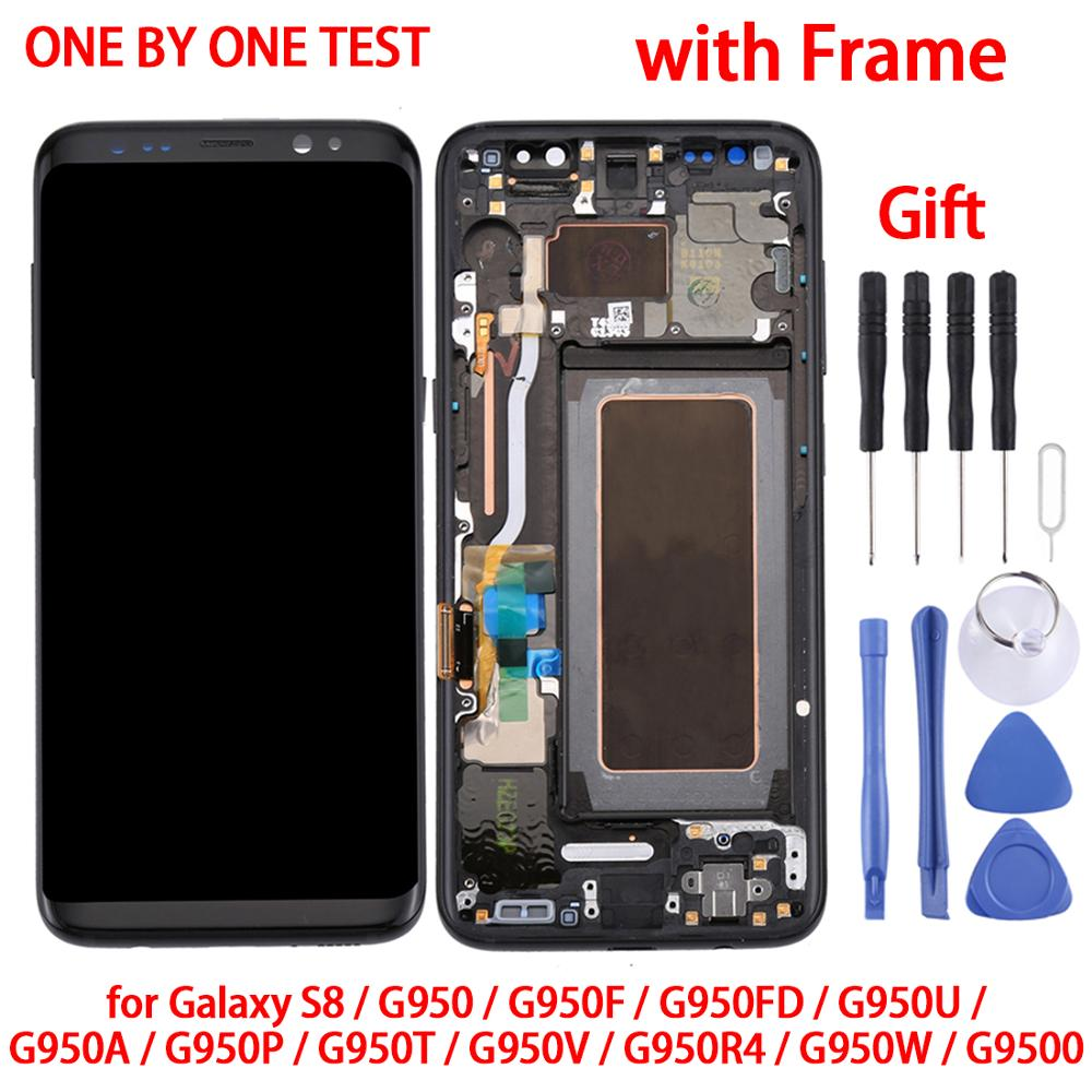 Original For Samsung <font><b>Galaxy</b></font> <font><b>S8</b></font>/<font><b>S8</b></font> Plus/S9 LCD Screen+Touch Panel with Frame LCD <font><b>Display</b></font> Touch Screen Digitizer Assembly image