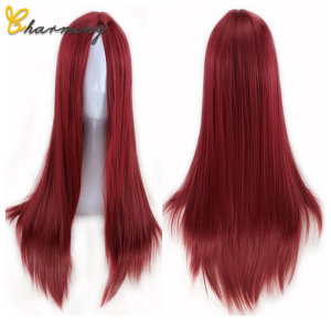 CHARMING Red Wig for Women Lon