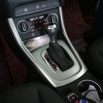 Car Styling For Audi Q3 2019 Central control Gear Shift Panel Gears Handrest Water cup Covers Stickers Interior Auto Accessories
