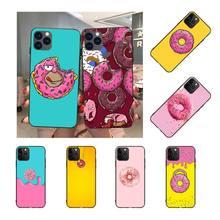 NBDRUICAI cute Donut DIY Painted Bling Phone Case for iPhone 11 pro XS MAX 8 7 6 6S Plus X 5S SE XR case nbdruicai the shawshank redemption bling cute phone case for iphone 11 pro xs max 8 7 6 6s plus x 5s se xr case