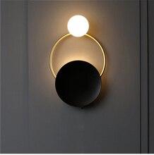Modern Italian design minimalist wall lamp creative lron LED for living room bedroom bedside lamps cafe bar e27