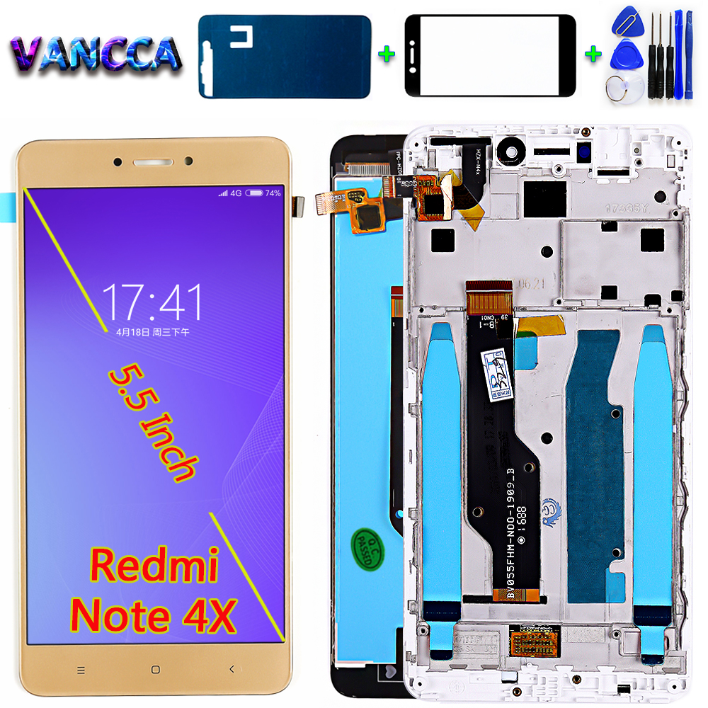 Lcd Display For Xiaomi Redmi NOTE 4X / Note 4 Global (CPU:Snapdragon 625) Touch Screen Digitizer Assembly Frame With Free Tools