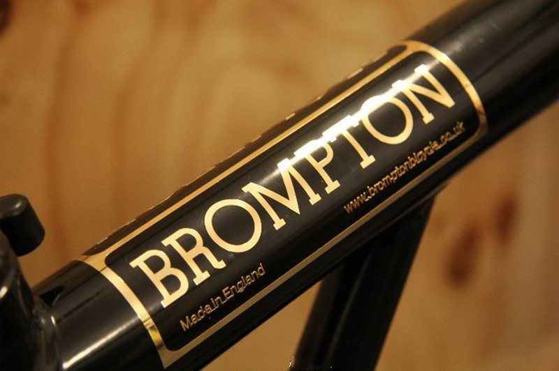 2 x Metallic Embossed Decals For BROMPTON Gold Sticker