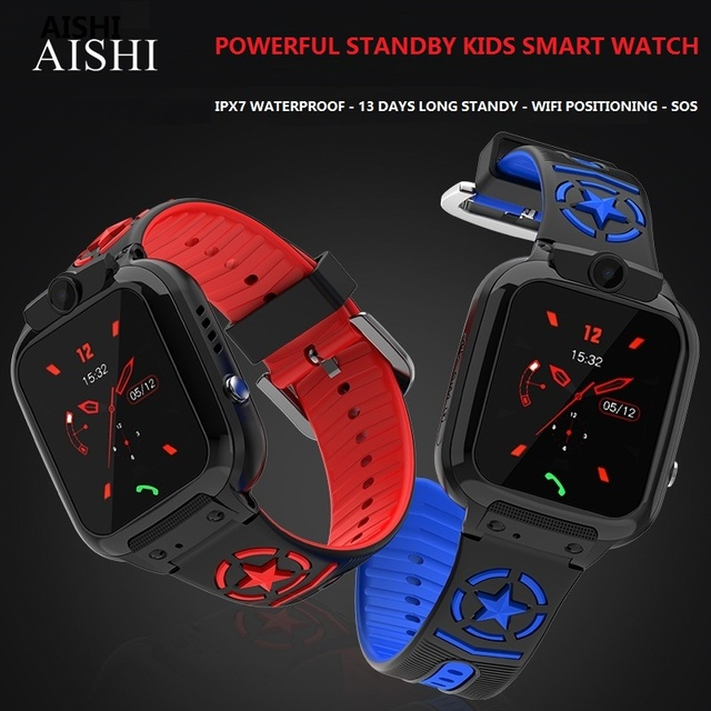 AISHI DS60 עמיד למים WIFI ילדים smart watch lbs מיקום sos 710 mah ארוך המתנה ספורט נייד טלפון שעון 1.44 אינץ tft מסך