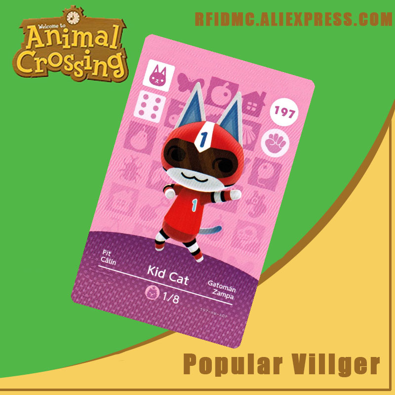 197 Kid Cat Animal Crossing Card Amiibo For New Horizons