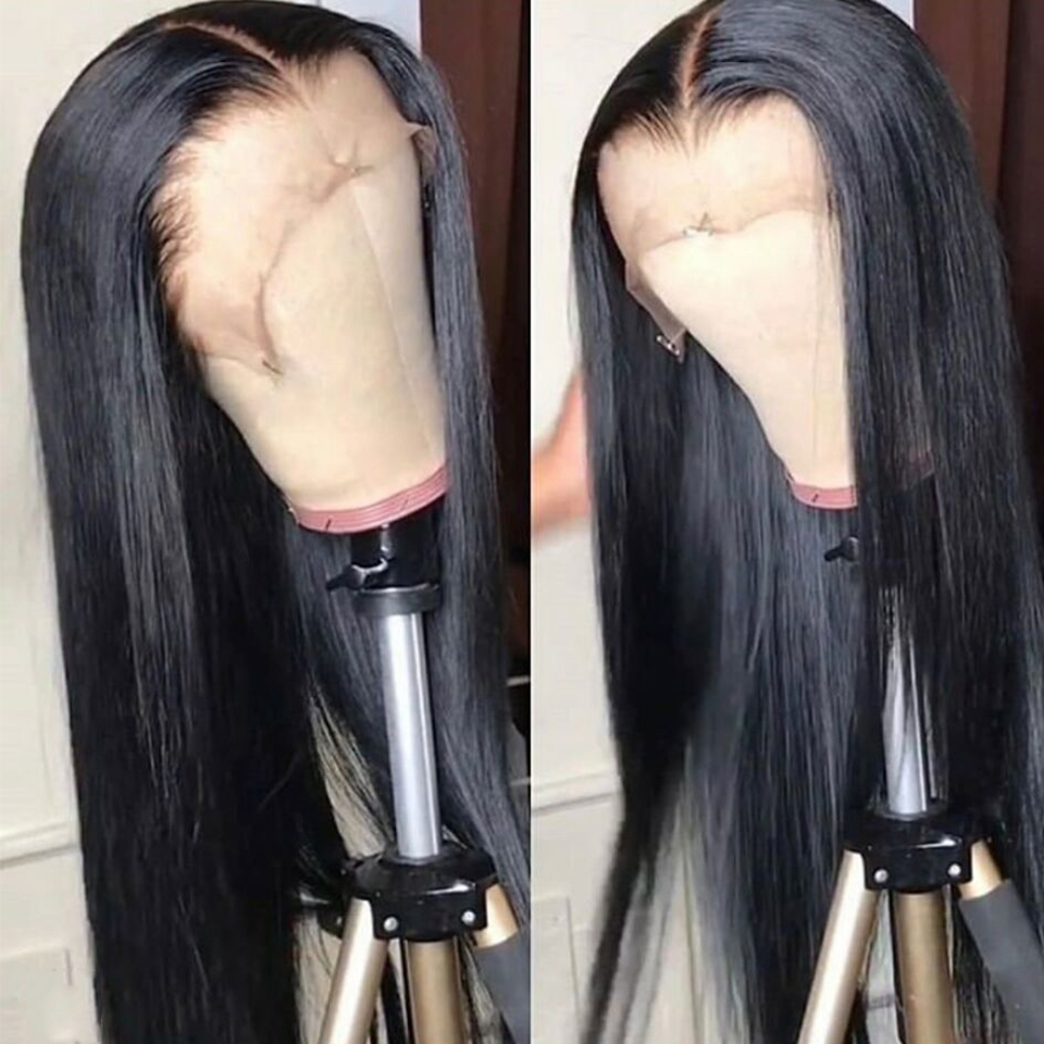 Straight Human Hair Wigs 13x4 Lace Front Wig For Black Women Remy Peruvian Human Hair Wig 150 Density Pre-Plucked Hairline