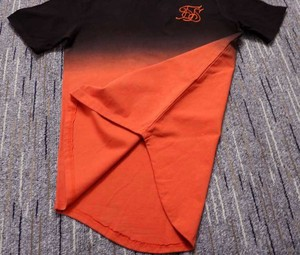 Image 5 - Zomer Katoen Zijde Siksilk T shirt Gradiënt Bedrukte T shirts Korte Mouwen Hip Hop T shirt Shirts Tops Mannen Longline Tees Met