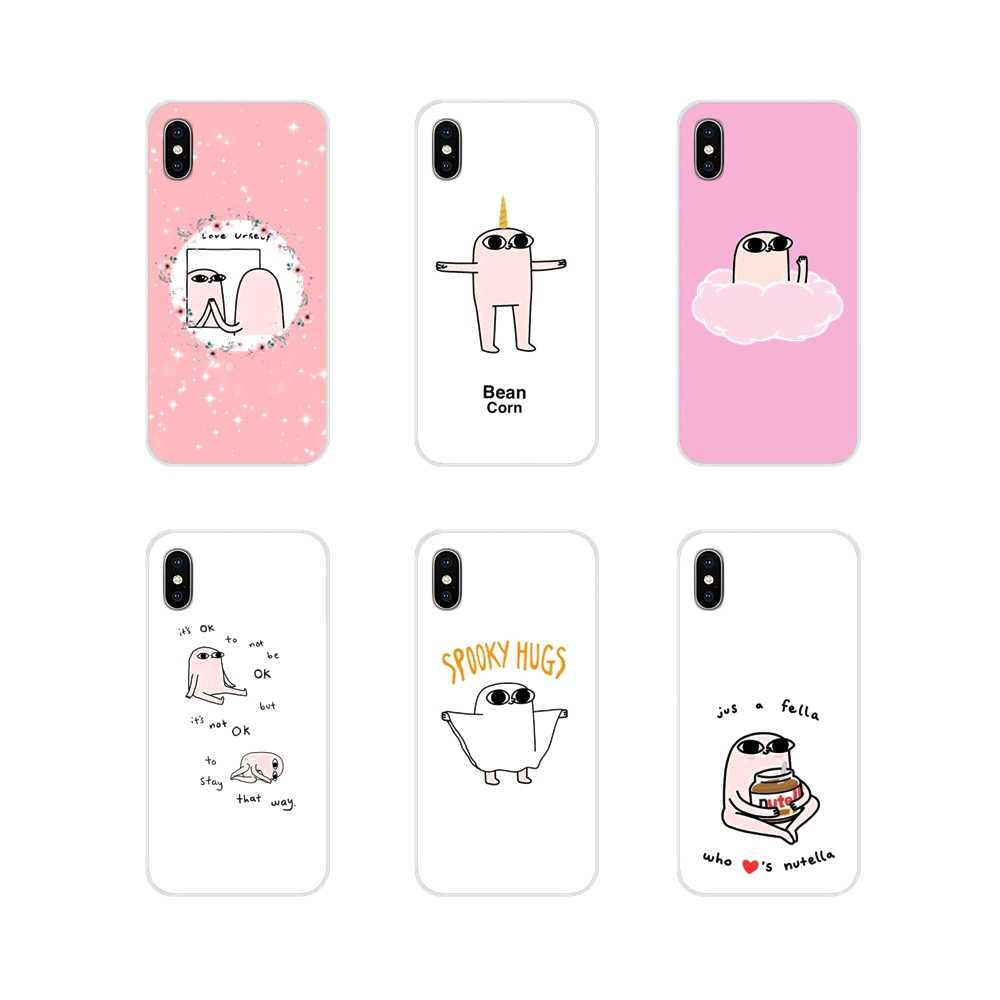 For Samsung A10 A30 A40 A50 A60 A70 M30 Galaxy Note 2 3 4 5 8 9 10 PLUS Cute Pink Cartoon Funny big eyes ketnipz Silicone Covers