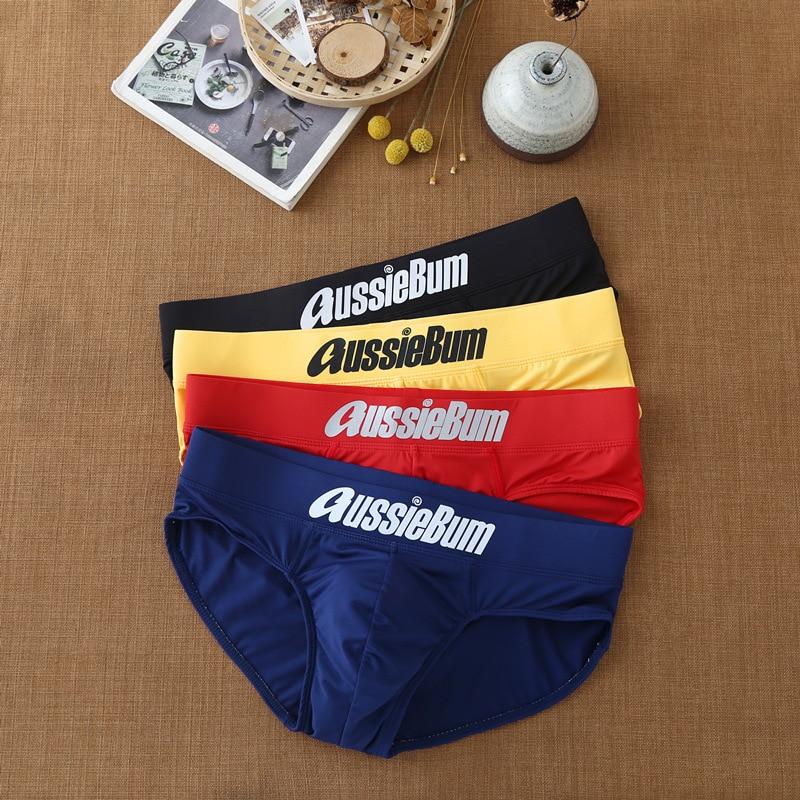 Men's briefs milk silk low waist elastic bag close-fitting comfort aussiebum 1