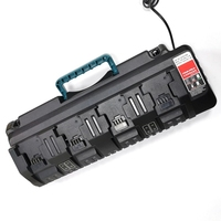 For Milwaukee 14.4V 18V Li ion Charger Rapid Optimum 4 Port 3A Charging Current Replacement Battery Charger N14 N18