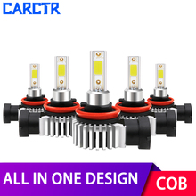 All In One Car LED Headlight Bulbs H1 H3 H7 Led Lamp 9005 9006 9012 880 H8/H9/H11 Bulbs 6600LM IP68 30W COB 6000K Car Lights new generation all in one high beam error free 9005 hid lights for madza 3