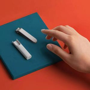Image 4 - Xiaomi Mijia coupe ongles en acier inoxydable avec couverture anti éclaboussures tondeuse soins de pédicure coupe ongles lime professionnelle Cli