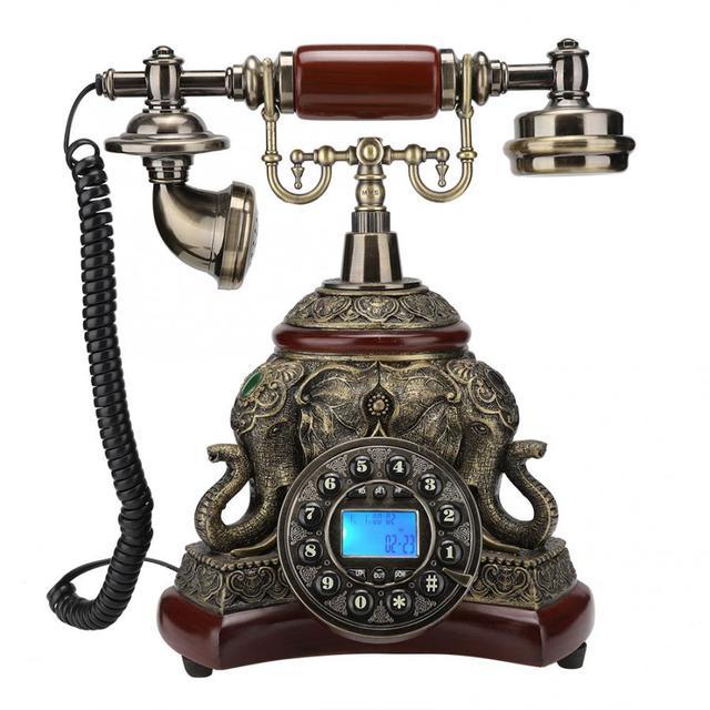 ريترو خمر السلكية الهاتف العتيقة الهاتفي هاتف مكتبي لمكتب الأعمال المنزلية 1