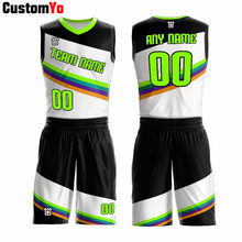 Black Green Basketball Jerseys Sets Uniforms Customized Color Basketball Jerseys Suits(China)