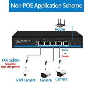 Image 5 - Commutateur Ethernet 4 ports PoE Gigabit commutateur Internet 1 port Gigabit commutateur POE 5x10/100/1000Mbps port RJ45 PoE 48v