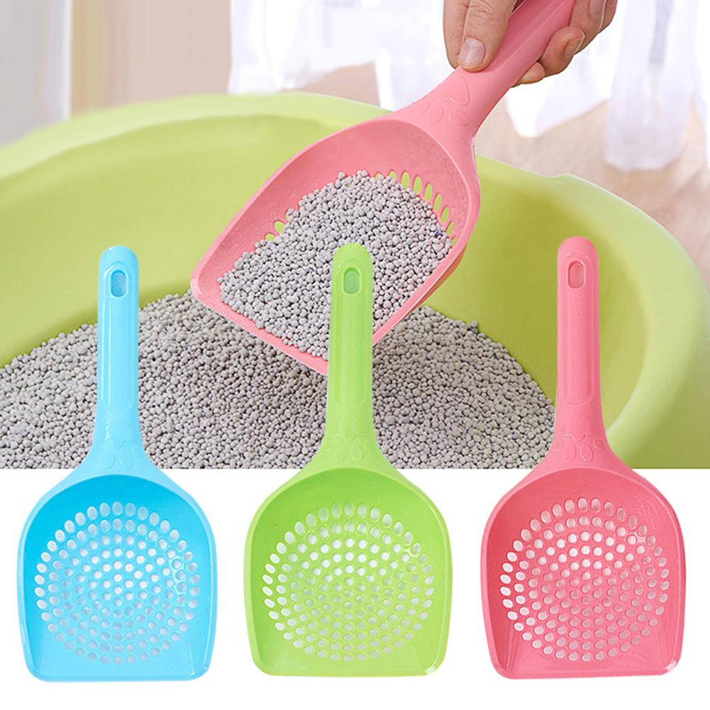 Lightweight Plastic Litter Scoop Pet Care Sand Waste Scooper Shovel Hollow Cleaning Tool