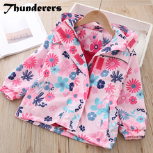 Thunderers Spring Autumn Kids Jacket For Girls Printed Flora