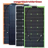 100W 100 Watt 12V Bendable Flexible Thin Lightweight Monocrystalline Solar Panel Battery Charger for RV, Boat, Cabin, Off Grid