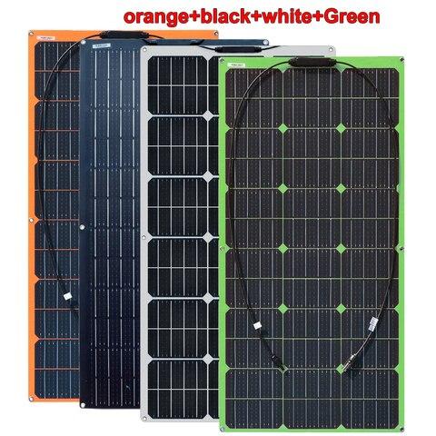 Carregador de Bateria para rv Fora da Grade Watt Flexível Leve Monocrystalline Painel Solar Barco Cabine 100 w 12 v