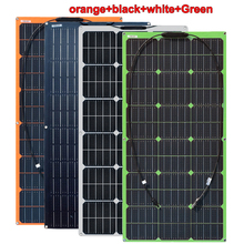 Flexible Solar Panel 100W 100 Watt 12V Bendable Thin Lightweight Monocrystalline Battery Charger for RV, Boat, Cabin, Off Grid