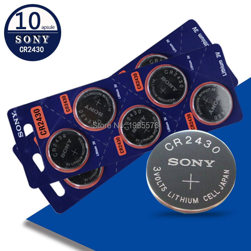 10 шт. sony 3v CR2430 игрушка часы весы дистанционное управление батарея DL2430 BR2430 ECR2430 KL2430 KCR2430 L20 Кнопка батарея