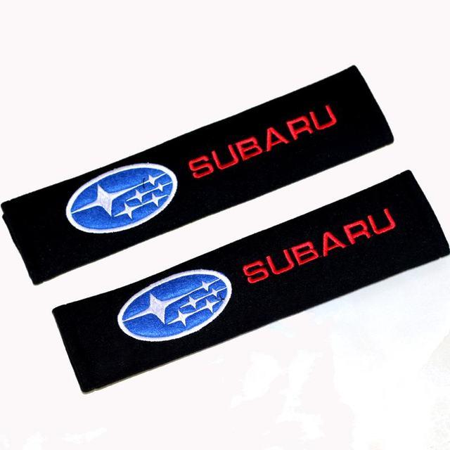 2 uds., funda protectora de fibra de carbono y algodón para Subaru Impreza Forester Tribeca XV BRZ, accesorios para Estilismo de coche