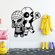 Beauty Spider-man decals Home Decor Wall Stickers For Kids Rooms Sticker Mural