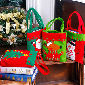 Decoration-Supplies Socks-Style Snowman Christmas-Candy-Bag Santa-Claus Home