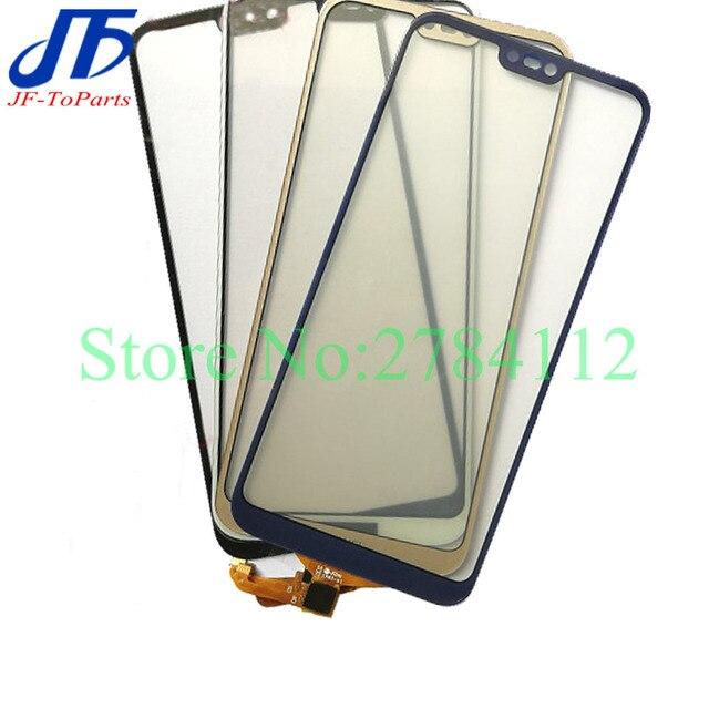 """10 pçs substituição do painel de toque para huawei p20 lite nova 3e 5.84 """"p20lite digitador da tela toque frente exterior lente vidro"""