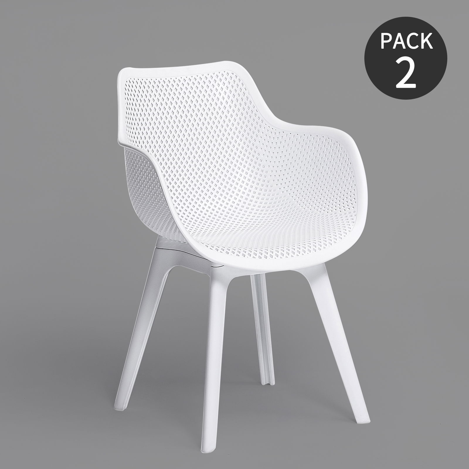 FURGLE 2Pcs Nordic Dining Chair Garden Chair With Polyester Legs